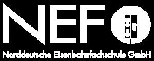 NEF Logo Weiss Norddeutsche Eisenbahnfachschule