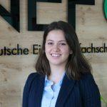 NEF begrüßt Sonila Jonuzi als Auszubildende am Standort Braunschweig